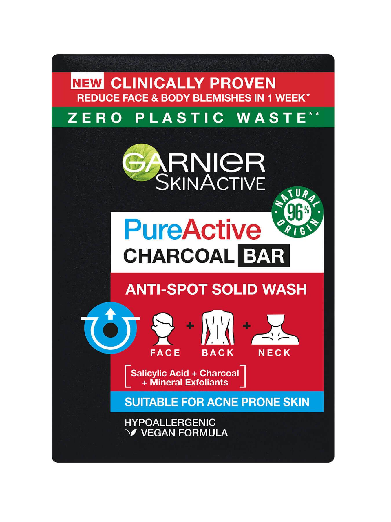 Garnier Pure Active Charcoal Bar Front of Pack